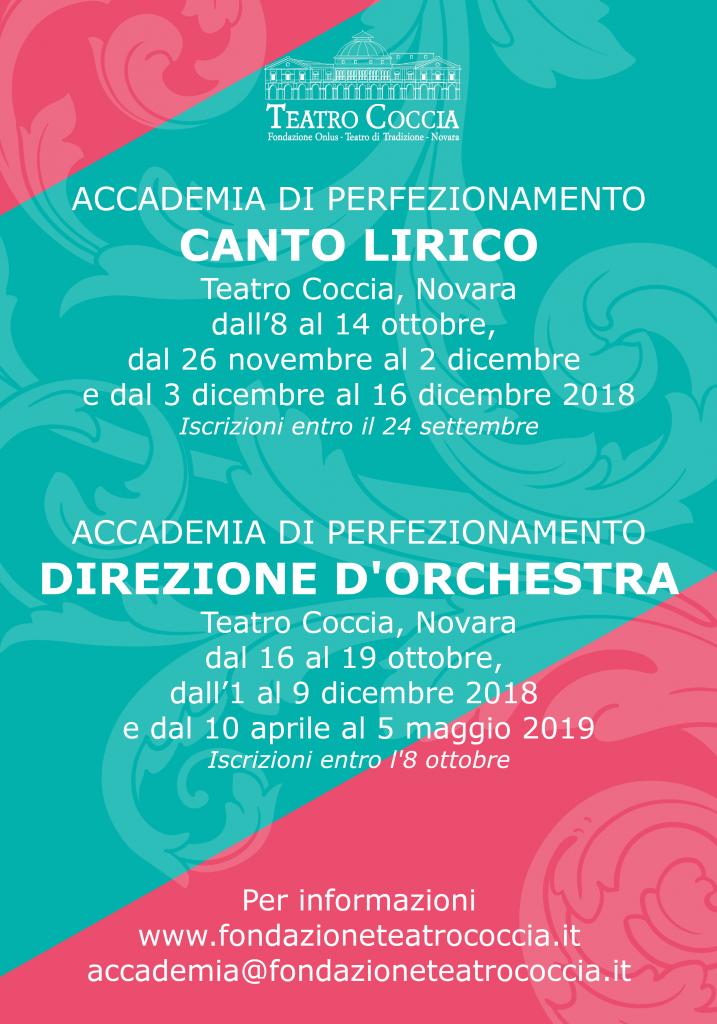 ACCADEMIA DI PERFEZIONAMENTO CANTO LIRICO E DI DIREZIONE D'ORCHESTRA